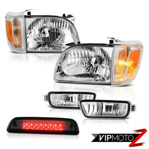 For 01 04 Toyota Tacoma Smokey Roof Cab Light Headlamps Bumper Led Replacement