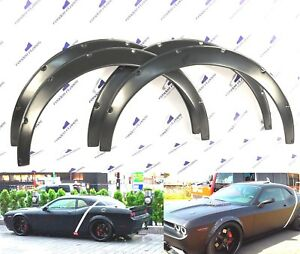 Dodge Challenger Srt 07 16 Fender Flares Wheel Arches Wide Body Abs Set Of 4 Pcs