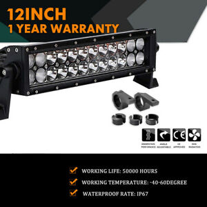 12inch 72w Led Light Bar Work Spot Flood Cree 4wd Car Atv Wiring Kit