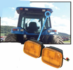 Ford new Holland 70 Genesis Series Tractor Led Amber Cab Corner Light Kit 2745