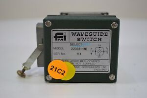 Flann 22333 2e 26 4 To 40 1 Ghz Motorized Waveguide Switch Relay