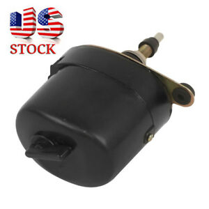 Universal Black Windshield Wiper 12v Motor For Chevy Ford Mopar Jeep 01287358 Us