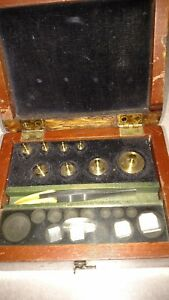 Vintage Will Corp Balance Scale Weight Set