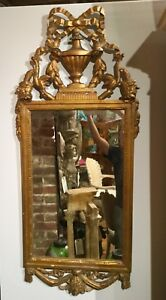 Estate 18th Century Italian Gold Gilt Carved Wood Mirror