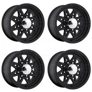 16x10 Black Wheels Raceline 892 Renegade 8 8x6 5 8x165 1 25 Set Of 4