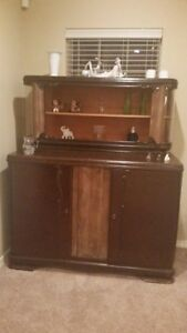 Vintage Antique German Hutch China Cabinet Made In Germany 1938 Good Condition