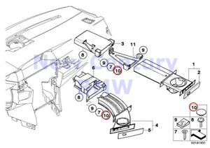 Bmw Genuine Cup Holder Threaded Fastener F Cupholder Cover E60 E60n E61 E61n