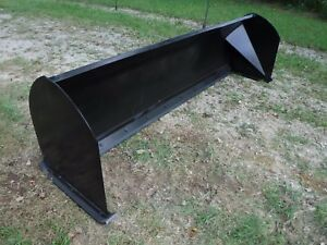 Bobcat Skid Steer Attachment 10 120 Snow Pusher Box Plow Blade Free Ship