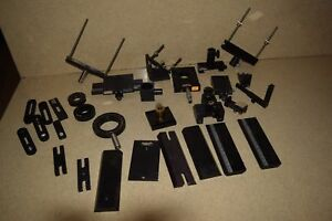 Oriel Optical Lot Of 30 Pieces Mirror Mounts Stages And Other Parts or1