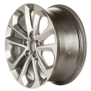 Remanufactured 18 X 8 Aluminum Wheel Machined And Bright Silver Metallic 64048