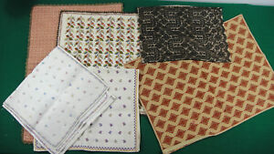 Lot Vintage 6 Table Decoration Carpet Napkin Handwork Needlecraft Tablecloth 85