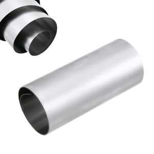 1 Roll Silver 304 Stainless Steel Fine Plate Sheet Foil 0 1mm 100mm 1000mm Kit