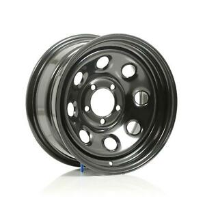Cragar Soft 8 Black Steel Wheels 15 X7 5x4 5 Bc Set Of 4