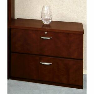 Lateral File 2 Drawer optional Top Medium Cherry