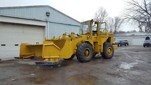 1980 Clark 75c Wheel Loader W 10 Ft Snow Pusher Video
