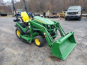 John Deere 1025r Tractor 4x4 Loader And Mower