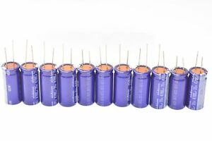 Nichicon 4700uf 35v Electrolytic Capacitor Lot Of 11