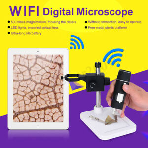 Wifi Digital Microscope Zoom Handheld 5mp Camera 8led Magnifier For Android Ios