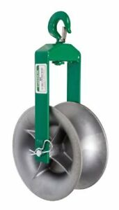 Greenlee 651 Hook Sheave 4000 pound Capacity 12 inch