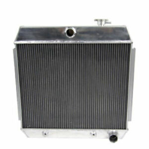 4 Row Aluminum Radiator For 1955 1957 Chevy Nomad Bel Air V8 Style Engine