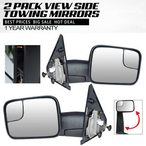 Fit 02 08 Dodge Ram 1500 03 09 2500 3500 Power Heated With Led Signal Tow Mirror