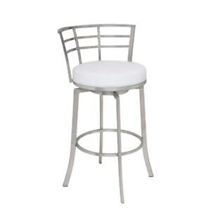 Viper 26 Counter Height Swivel Barstool In Brushed Stainless Steel Finish