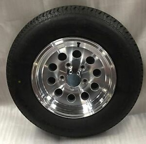 New 15 Inch 5 Lug Aluminum Trailer Wheel With Tire St205 75 R15 8 Ply S20 56545t