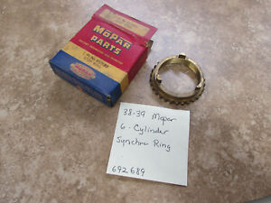 Nos 1938 39 Chrysler Plymouth Dodge 6 Cylinder 3 speed Synchro Ring 692689