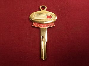 Vintage Ford Comet Gold Plated Key W Emblem Crest Ford Blank Auto Accessory