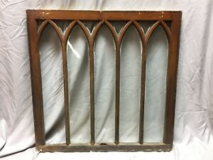 Antique Gothic Arched Window Sash Shabby Vintage Old Chic 33x34 467 18c