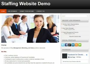 Mobile Responsive Staffing Web Site For Personnel Staffing Firm