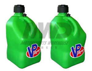 2 Pack Green Vp 5 Gallon Square Racing Fuel Gas Can utility Water Jug jerry