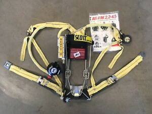 Scott 2 2 Scba Air Pack Harness Firefighter Air Pak Excellent Condition a