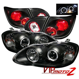 Halo Projector Headlight black Altezza Tail Lamp Toyota Corolla 2003 Le ce xle