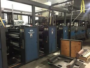 Goss Heidelberg Harris V30 4 unit Web Offset Heatset Commercial Press System