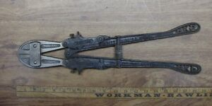 Old Used Tools vintage H K Porter New Easy No 0 Bolt Cutters 18 5 16 excellent