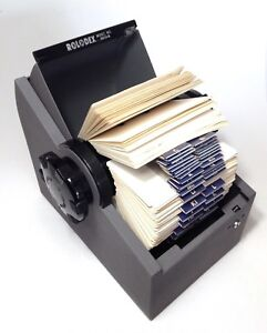 Vtg Metal Rolodex 3500 s Gray Zephyr Large Roll Top Rotary 11 Index Office