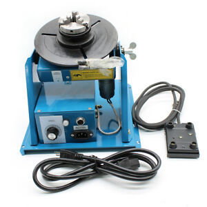 New 2 5 3 Jaw Rotary Welding Positioner Turntable Table Lathe Chuck 2 10rpm Hot