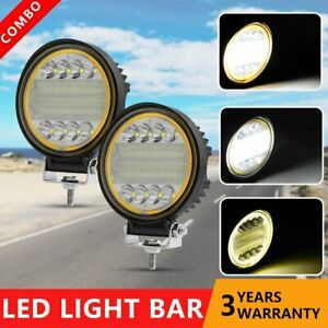 2x 72w Cree Led Work Lights Pods Combo Off road Lamp For Atv Jeep Ute 5 Round