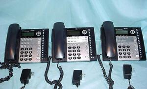Lot 3 At t 1070 4 Line Small Business System Black Corded Desk Office Phones