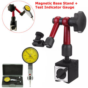 Magnetic Base Holder Stand Face Dial Test Indicator Gauge Scale Precision Set