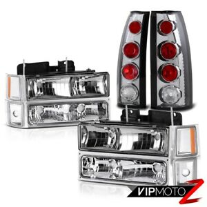 94 95 96 97 98 Suburban Tahoe Silverado Red Chrome New Headlight Tail Light Lamp