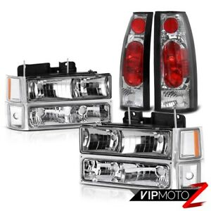 Newest Chrome Altezza Tail Lights Headlights 1994 1998 Chevy Silverado Suburban