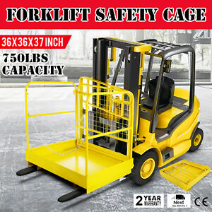 36 36 Forklift Work Platform Safety Cage Heavy Duty Indoor 750lbs Capacity