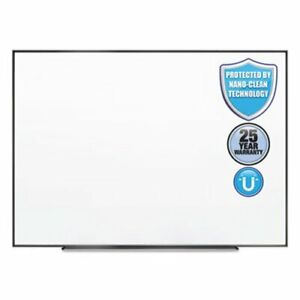 Quartet Fusion Clean Magnetic Whiteboard 48 X 36 Silver Frame qrtna4836f