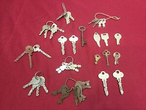 Vintage Modern Misc Assorted Pre cut Keys Set Of 43 Locksmith