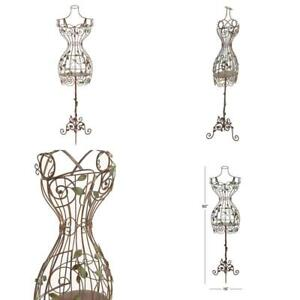 Metal Dress Form Mannequin Female Wire Stand Display Clothing Decor Vintage Body