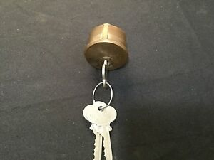 Antique Mortised Cylinder W Keys Locksmith