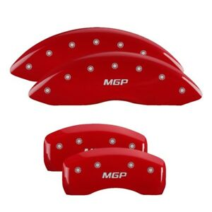 Mgp Caliper Covers Engraved Front Rear For Mercedes Red 23197smgprd