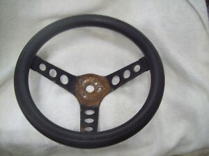 Vintage 3 Spoke Steering Wheel 11 1 2 Diameter 4 Deep Superior 500 Style
